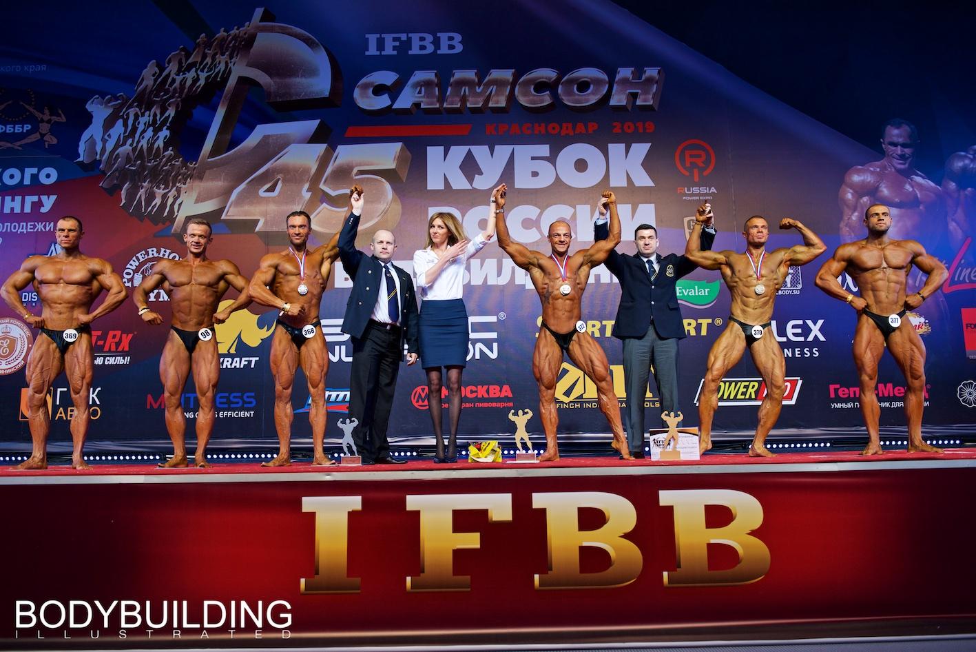 Результаты второго дня Кубка России по бодибилдингу 2019