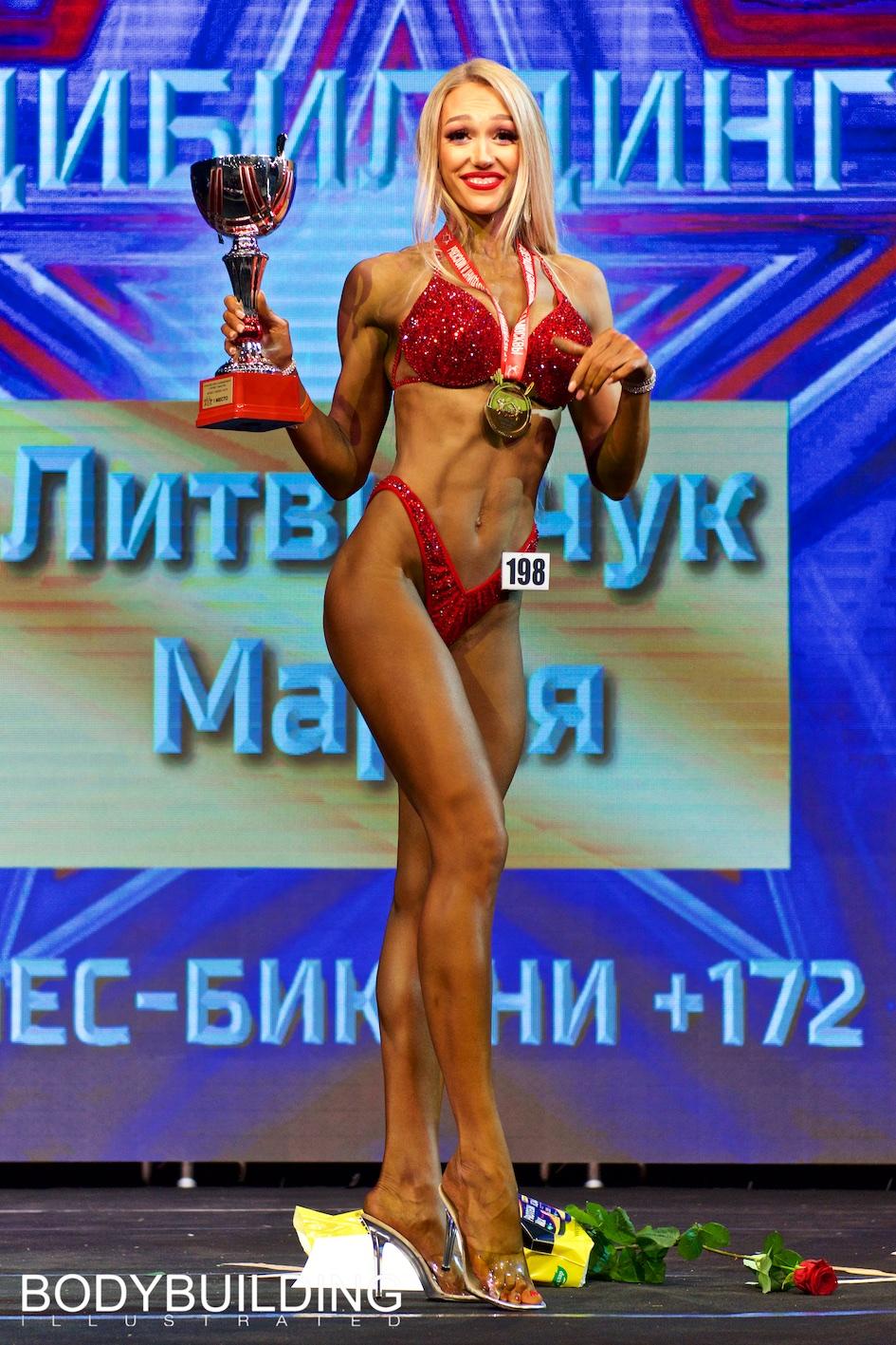 Литвинчук Мария Кубок Москвы по бодибилдингу 2019 фитнес-бикини